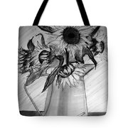 Still Life - 6 Sunflowers In A Jug Tote Bag