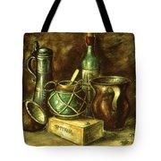 Still Life 72 - Oil On Wood Tote Bag