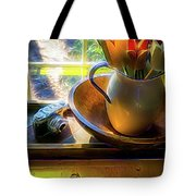 Still Life By Window Tote Bag