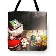 Still Life Christmas Scene Tote Bag