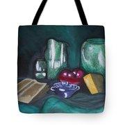 Still Life Green Tote Bag