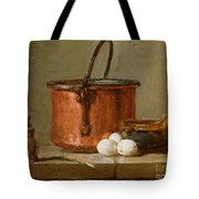Still Life Tote Bag by Jean-Baptiste Simeon Chardin