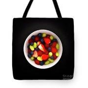 Still Life Of A Bowl Of Fresh Fruit Salad. Tote Bag