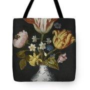 Still Life Of Flowers In A Wan-li Vase Tote Bag