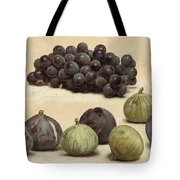 Still Life Of Grapes And Figs Tote Bag