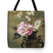 Still Life Of Pink Roses Tote Bag