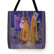 Still Life Olive Oil And Olive Twigs Tote Bag
