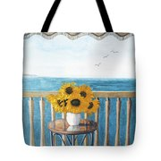 Still Life On A Patio Tote Bag