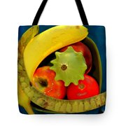 Still Life On Blue Tote Bag