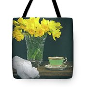 Still Life On Rustic Table Tote Bag