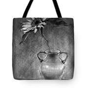 Still Life - Vase With One Sunflower Tote Bag
