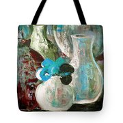 Still Life With A Blue Flower Tote Bag