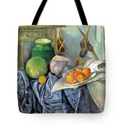 Still Life With A Ginger Jar And Eggplants Tote Bag