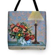 Still Life With A Lamp Tote Bag