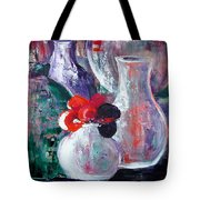 Still Life With A Red Flower Tote Bag