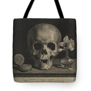Still Life With A Skull And A Vase Of Roses Tote Bag