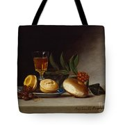 Still Life With A Wine Glass Tote Bag