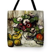 Still Life With Anemones And Fruit Tote Bag