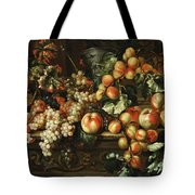 Still Life With Apples And Grapes Tote Bag