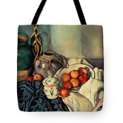 Still Life With Apples Tote Bag by Paul Cezanne