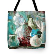Still Life With Blue Flowers 2 Tote Bag