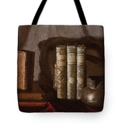 Still Life With Books Tote Bag