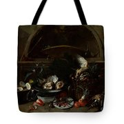 Still Life With Bottles And Oysters Tote Bag