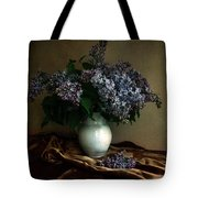 Still Life With Bouqet Of Fresh Lilac Tote Bag