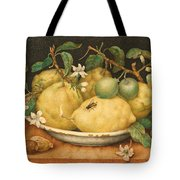 Still Life With Bowl Of Citrons Tote Bag