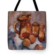 Still Life With Brown Pitcher Tote Bag