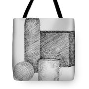 Still Life With Cup Bottle And Shapes Tote Bag