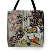 Still Life With Daisies And Fruit Tote Bag