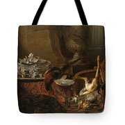 Still Life With Dead Game And A Silver Tureen On A Turkish Carpet Tote Bag