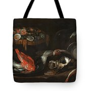 Still Life With Fish And Oysters  Tote Bag
