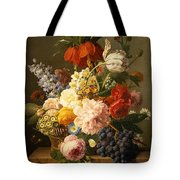 Still Life With Flowers And Fruit Tote Bag by Jan Frans van Dael