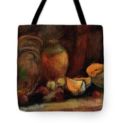 Still Life With Fruits And Pumpkin Tote Bag