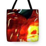 Still Life With Glass Vases. Tote Bag