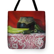 Still Life With Green Peppers Tote Bag