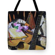 Still Life With Guitar Tote Bag