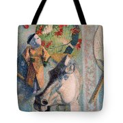 Still Life With Horse Head Tote Bag
