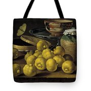 Still Life With Lemons And A Pot Of Honey Tote Bag
