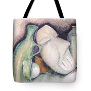 Still Life With Mask Tote Bag