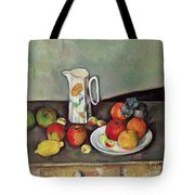 Still Life With Milkjug And Fruit Tote Bag by Paul Cezanne