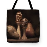 Still Life With Mushrooms And Pears II Tote Bag