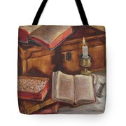 Still Life With Old Books Tote Bag