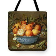 Still Life With Oranges And Lemons In A Wan-li Porcelain Dish  Tote Bag