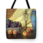 Still Life With Peaches Tote Bag by Edward Chalmers Leavitt