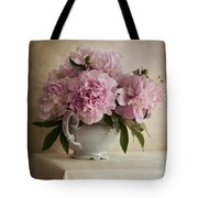 Still Life With Pink Peonies Tote Bag