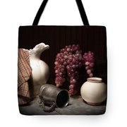 Still Life With Pitcher And Grapes Tote Bag