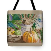 Still Life With Pumpkin Tote Bag